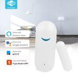 Tuya Smart WiFi Door Sensor Window Sensor Door Open/Closed Detectors Wifi Home Alarm Compatible With Alexa Google Home Tuya APP