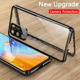 Bakeey 360 Curved Magnetic Flip Double-sided with Lens Protector 9H Tempered Glass Full Body Protective Case for HUAWEI P40 Pro / P40 Pro+