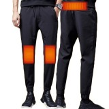 TENGOO 3-Gears Control Men USB Electric Heated Pants Thermal Warm Hiking Trouser Outdoor Heating Trousers For Winter Sports