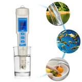 4-in-1 Water Quality Tester Pen Waterproof Water Quality Analysis Instrument PH/EC/TDS & Temperature Meter PH Meter TDS Meter with ATC Function