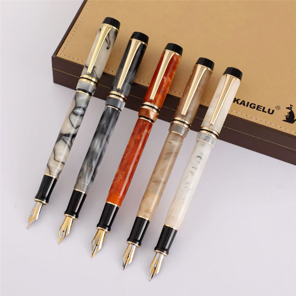Kaigelu 316 Fountain Pen Medium Nib Practice Writing Business Office Beautiful Gift Pen For Students Teacher