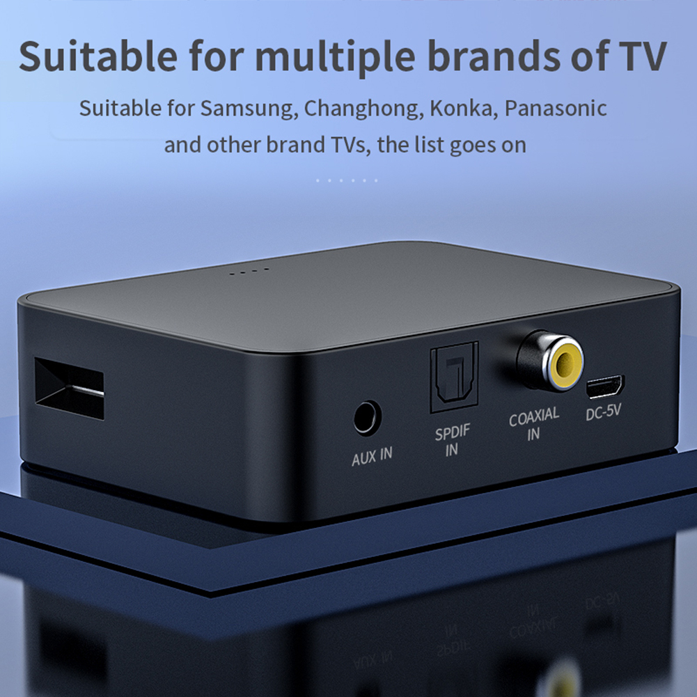 YET-T6 bluetooth V5.0 Audio Transmitter Optical / Coaxial / Aux / TF Card Wireless Audio Adapter For TV PC Speaker