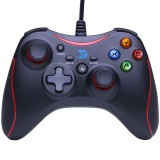 ZD-N108 Dual Vibration Feedback USB Wired Gaming Controller Gamepad with JD-SWITCH TURBO Function for PC PS3 Android