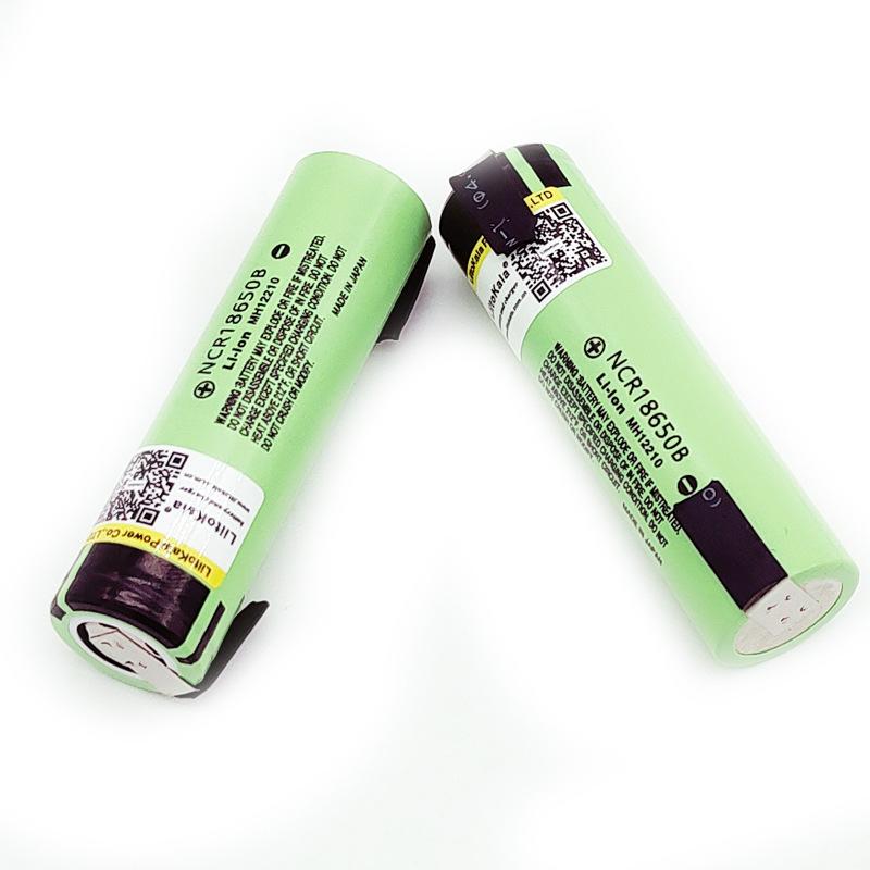 LiitoKala NCR18650B 3.7V 3400mAh 18650 Lithium Rechargeable Battery For Flashlight Laptop