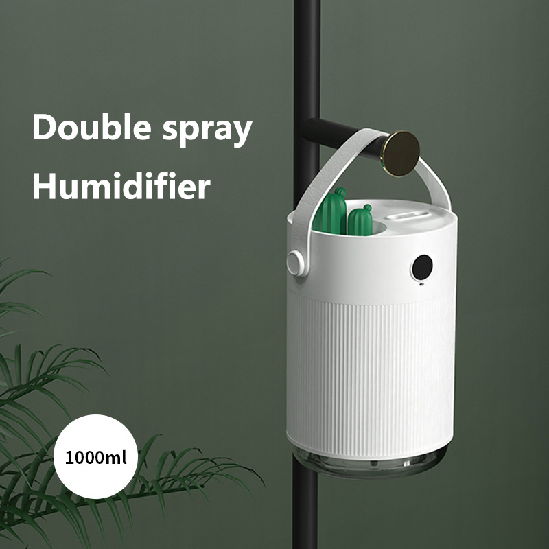 SOTHING H1 Desktop Double Spray Atomizer Humidifier 1000ml Capacity USB Charging Low Noise Charming Atmosphere Lamp for Home Office Car
