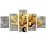 5PCS Canvas Print Paintings Plum Blossom Frameless Art Oil Picture Poster Home Wall Decor for Living Room Bedroom Office