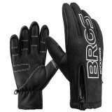 ROCKBROS S091-4 Winter Warm Cycling Gloves Full Finger Touch Screen Riding MTB Bike Bicycle Gloves Motorcycle Bike Gloves