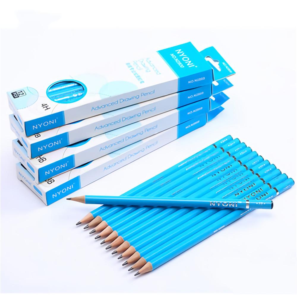 NYONI 2B/HB/14B Sketch Pencil Set 12pcs/box Special Drawing Pencil Sketch Art Painting Stationery School Students Supplies