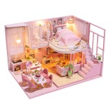 Miniature DIY Doll House With Furnitures Wooden House Toys For Children Birthday Gift