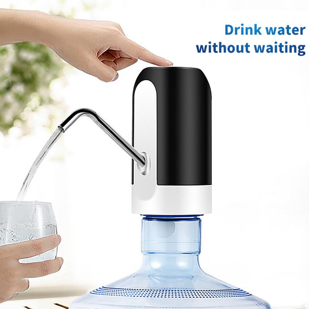 KCASA Electric Water Dispenser USB Charging LED Indicator Water Bottle Pump Dispenser Drinking Water Bottles Suction Unit Faucet Tools Water Pumping Device