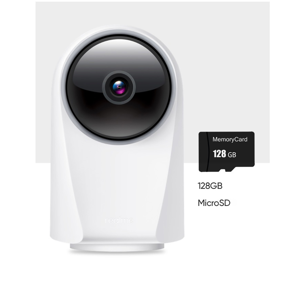 REALME RMH2001 Wireless WIFI Smart Camera 1080P WDR 128GB PTZ Outdoor Indoor Infrared Night Vision Voice Talkback Security Camera