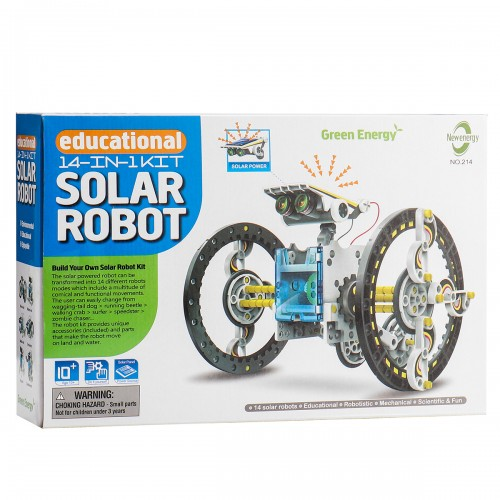 Pcikwoo 16Pcs/Box 14 in 1 Solar Deformation DIY Robot Kit for Kids