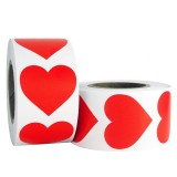 Heart Shape of Red Stickers Seal Labels 500Pcs/roll Labels Stickers Scrapbooking Package Wedding Decoration Stationery Sticker