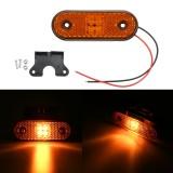 24V 4 LED Truck Side Marker Lights Turn Signals Lamps For Boat Tractor RV