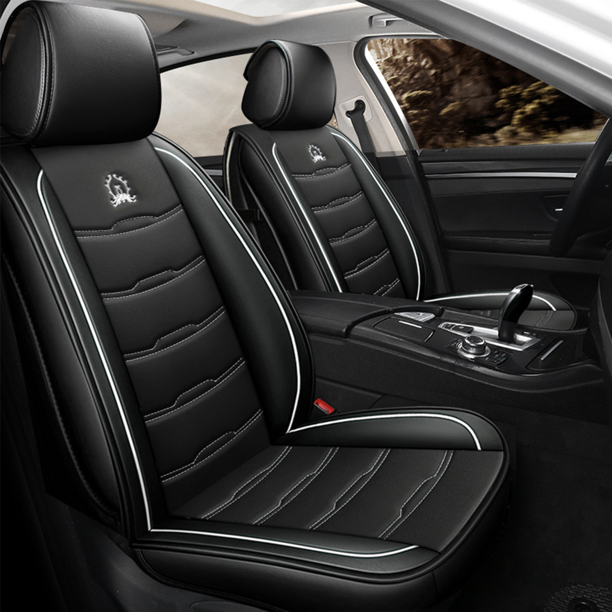Universal Car Front Seat Cover Auto Accessories PU Leather Breathable Cushion