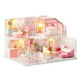 DIY Doll House Handmade Girl Heart Small House Model Assembled Art Villa Toy Birthday Gift Girl