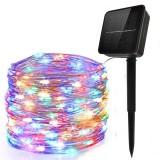5M/10M/20M Solar Powered 50/100/200LEDs String Light 8 Modes Waterproof Outdoor Garden Home Decorative Lamp
