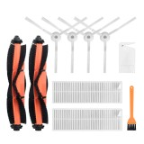 10pcs Replacements for Xiaomi Mijia G1 Vacuum Cleaner Parts Accessories Main Brushes*2 Side Brushes*4 HEPA Filters*2 Cleaning Tool*1 Yellow Cleaning Tool*1
