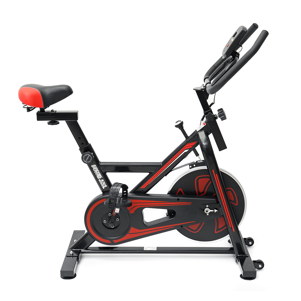 KNS-D003 Exercise Bike LCD Display Indoor Cycling Trainer Fitness Workout Machine Spinning Bike Stationary
