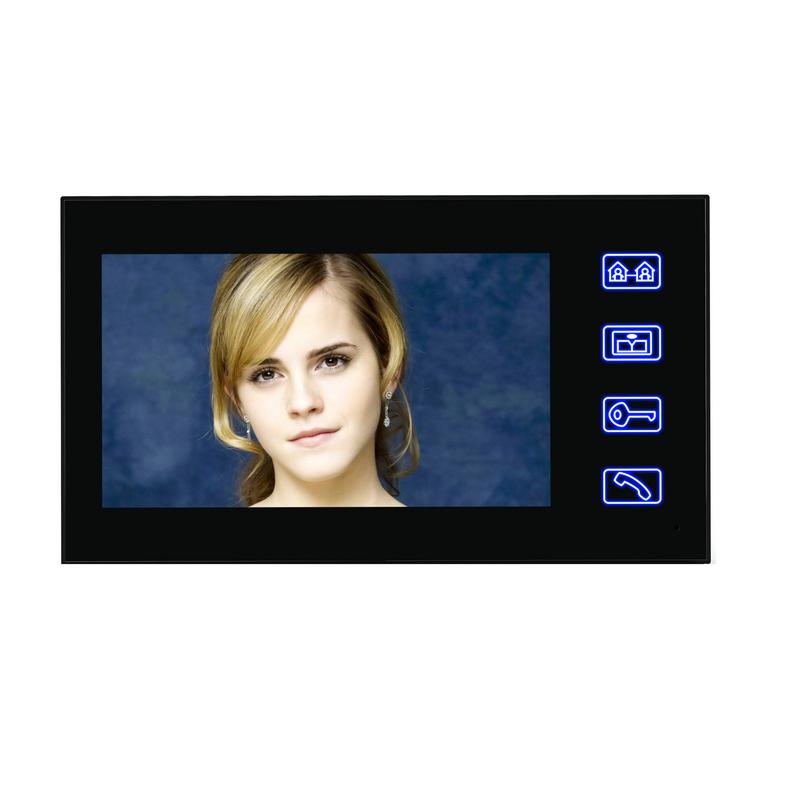 ENNIO SY816MJLENO11 7inch Fingerprint RFID Password Video Door Phone Intercom Doorbell System Kit With NO Electric Strikes Lock+ Wireless Remote Control unlock