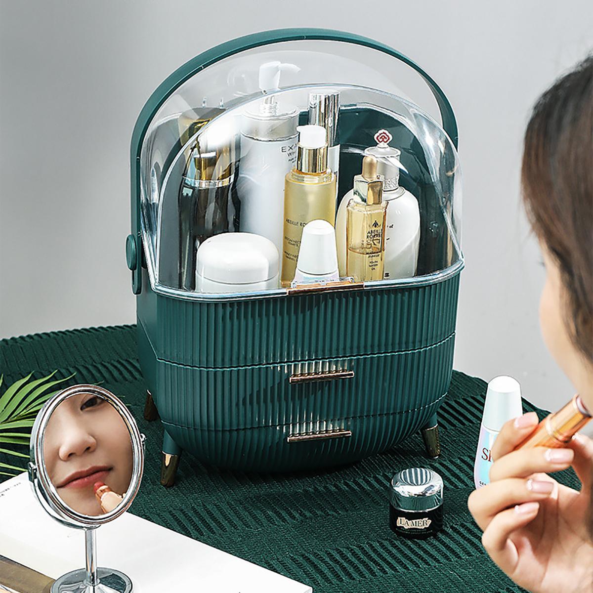 Bakeey Desktop Storage Box Makeup Organizer Waterproof & Dustproof Cosmetic Organizer Box Fully Open Makeup Display Boxes Makeup Caddy Holder