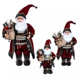 2020 Merry Christmas Decorations Home Rose Red Robe Santa Doll Decoration for Children New Year Christmas Gifts