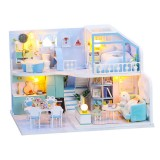 DIY Doll House Handmade Creative Attic House 3d Building Assembly Model Assembly Toy Birthday Gift