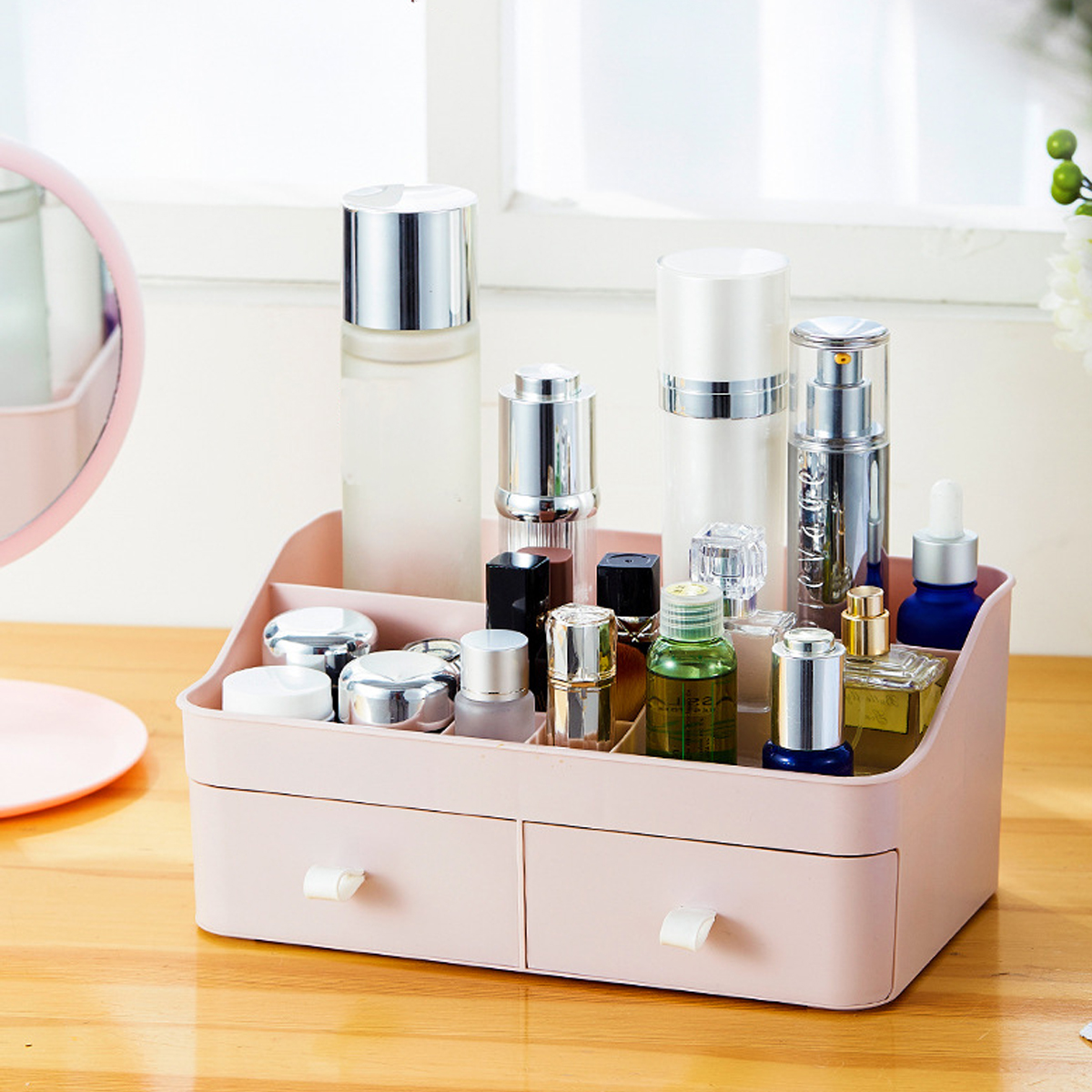 Large Capacity Cosmetic Storage Box Makeup Drawer Organizer Jewelry Makeup Container Mobile Phone Sundries Storage