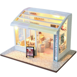 TIANYU DIY Doll House TD36 Manicure Store Creative Modern Shop Handmade Doll House With Furniture