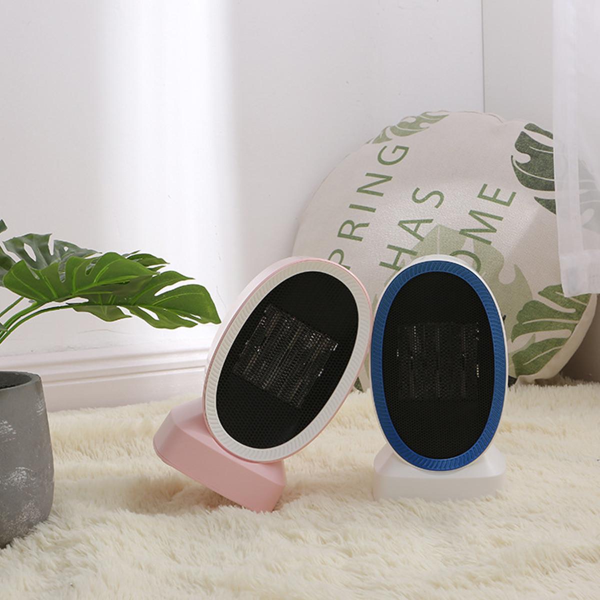 220V Portable Mini Electric Heater Fan Home Office Winter Warmer Table Fan Air Heater
