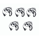 5pcs Ptt Mic headphone Walkie Talkie Earpiece baofeng headset for UV-5R UV-5RE UV-6R BF-888S ksun Kenwoods CB Two Way Radio parts