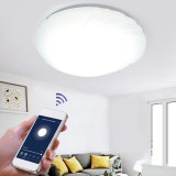 48W WiFi LED Ceiling Light Stepless Dimming APP Control Ceiling Light Living Room Dining Room Bedroom Works with Alexa Google Home IFTTT