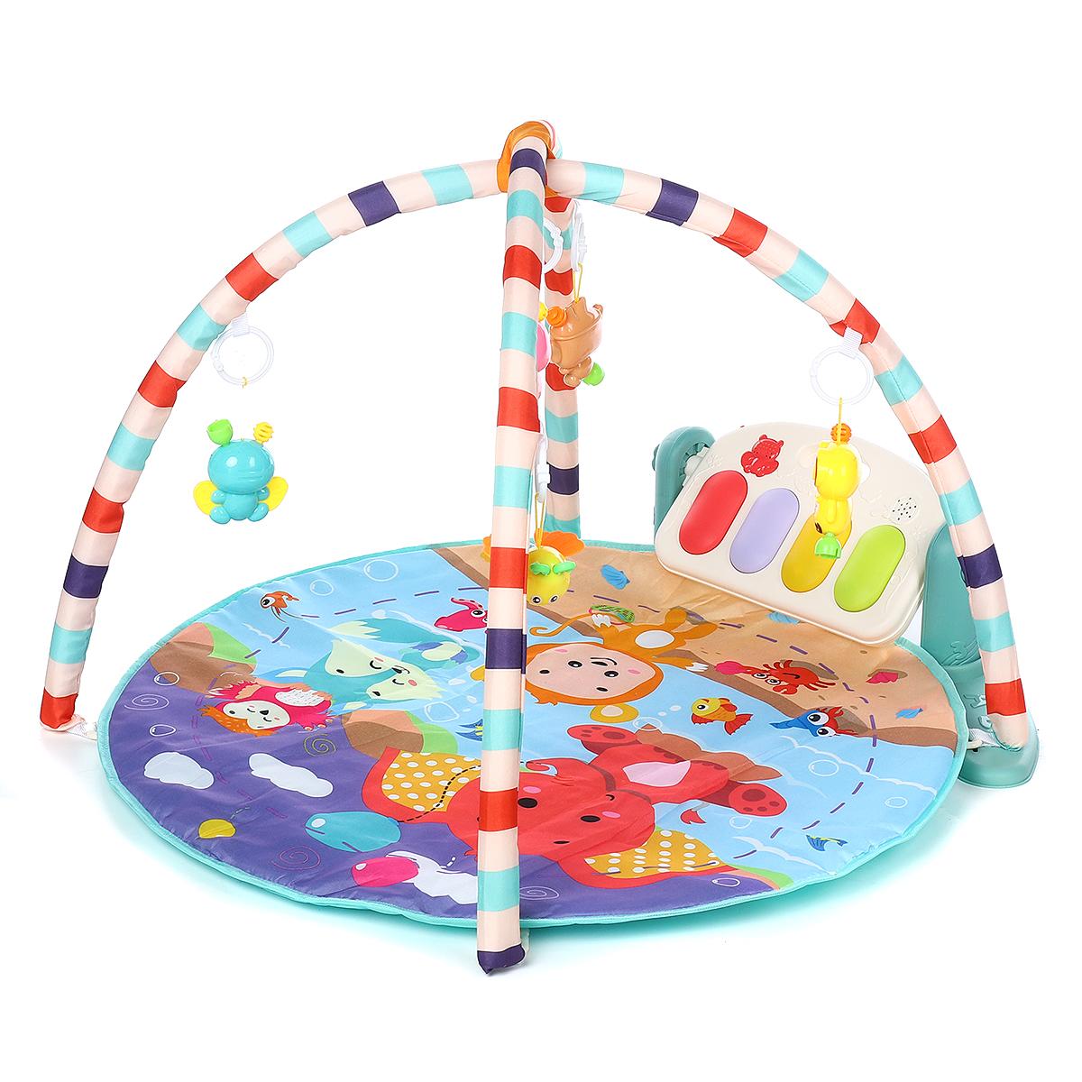4-in-1 Newborn Infant Baby Musical Piano Play Mat Blanket Kids Activity Carpet Crawling Mat Kids Mat