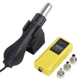 JCD 8858 700W Hot Air Heater Micro Rework Soldering Station LED Digital Hair Dryer for Soldering Heat Welding Repair Tools Yellow