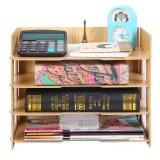 Bakeey File Rack Desktop Wooden File Rack Student Book Stand Office Desk Storage Box Desktop Rack