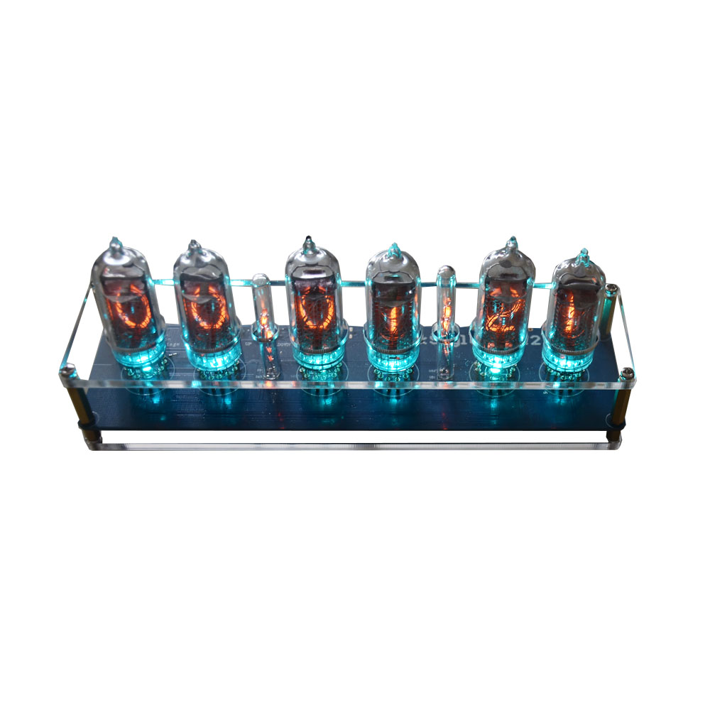5V 1A In14 Nixie Tube LED Clock Glow Tube Clock Module Board Motherboard Digital Clock With Tubes Assembled