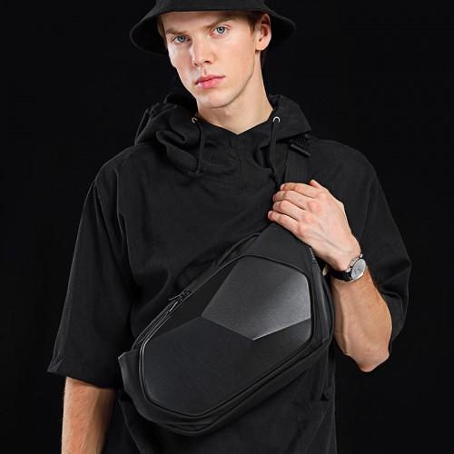 Bange 7229 Locomotive Sling Bag Anti-Theft Waterproof Hard Shell Chest Crossbody Bag Shoulder Bag Cycling Camping Sport