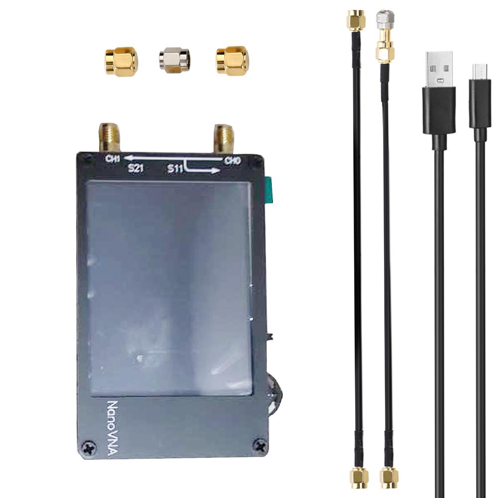 LZNanoVNA 50KHz ~ 1.5GHz Vector Network Analyzer Digital Nano VNA Tester MF HF VHF UHF USB Logic Antenna Analyzer Standing Wave