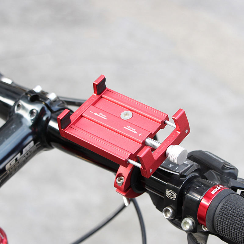 "PK01 Adjustable Bicycle Phone Holder GPS Bracket MTB Mountain Bike Handlebar Anti-Slip Stand for 3.5"" to 6.2"" Phones"