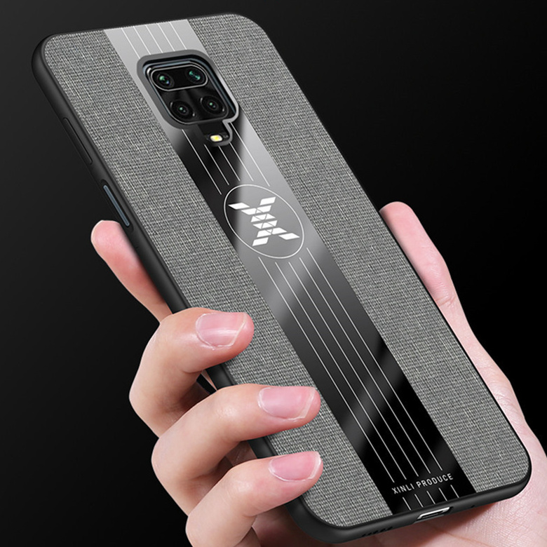 Bakeey for Xiaomi Redmi Note 9S / Redmi Note 9 Pro / Redmi Note 9 Pro Max Case with Magnetic Ring Bracket Stand Shockproof Breathable Cloth Fabric Protective Case
