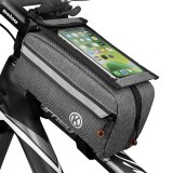 6.4inch Touch Screen Phone Bag Waterproof Bike Front Frame Bag Cycling Phone Mount Bag for MTB Road Bicycle