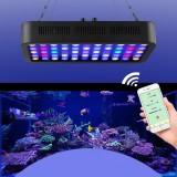 165W LED Aquarium Lighting Aquatic Plant Light WiFi Controlled Dimming Aquarium Light Coral light Fish Bowl Lamp for Fish Tanks