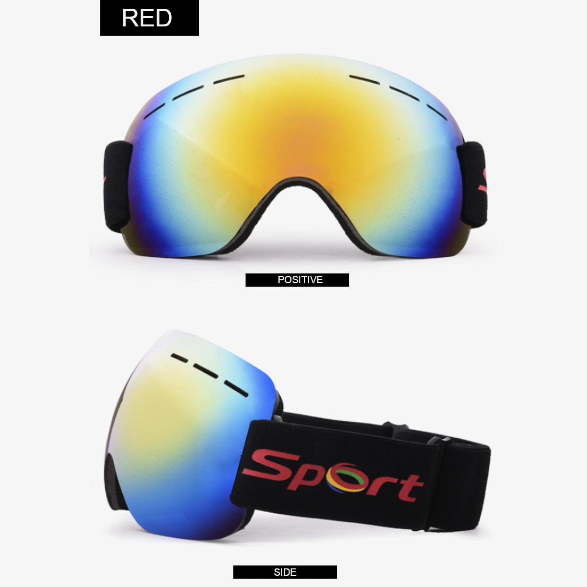 Adult Ski Glasses Anti Fog Lens UV Skiing Goggles Snow Skiing Protect Windproof Tools