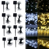 5/6.5/9.5/10M Solar Powered Snowflake String Fairy Lights Xmas Garden Outdoor Party Decor Lamp