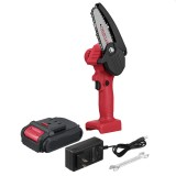 """550W 24V 4"""" Mini Cordless Electric Chain Saw One-Hand Woodworking Wood Cutter W/ 1pc Battery"""