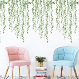 HOMEYAN FX-C09 DIY Green Leaf Wall Sticker Decals Decor Removable Decal Decoration Kid for Home Office