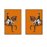 2 Pcs Canvas Print Painting Knight Canvas Print Picture Wall Art Decorative Frameless Home Office Decor