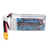 CODDAR 7.4V 650mAh 90C 2S High Discharge Lipo Battery XT30 Plug for RC Drone