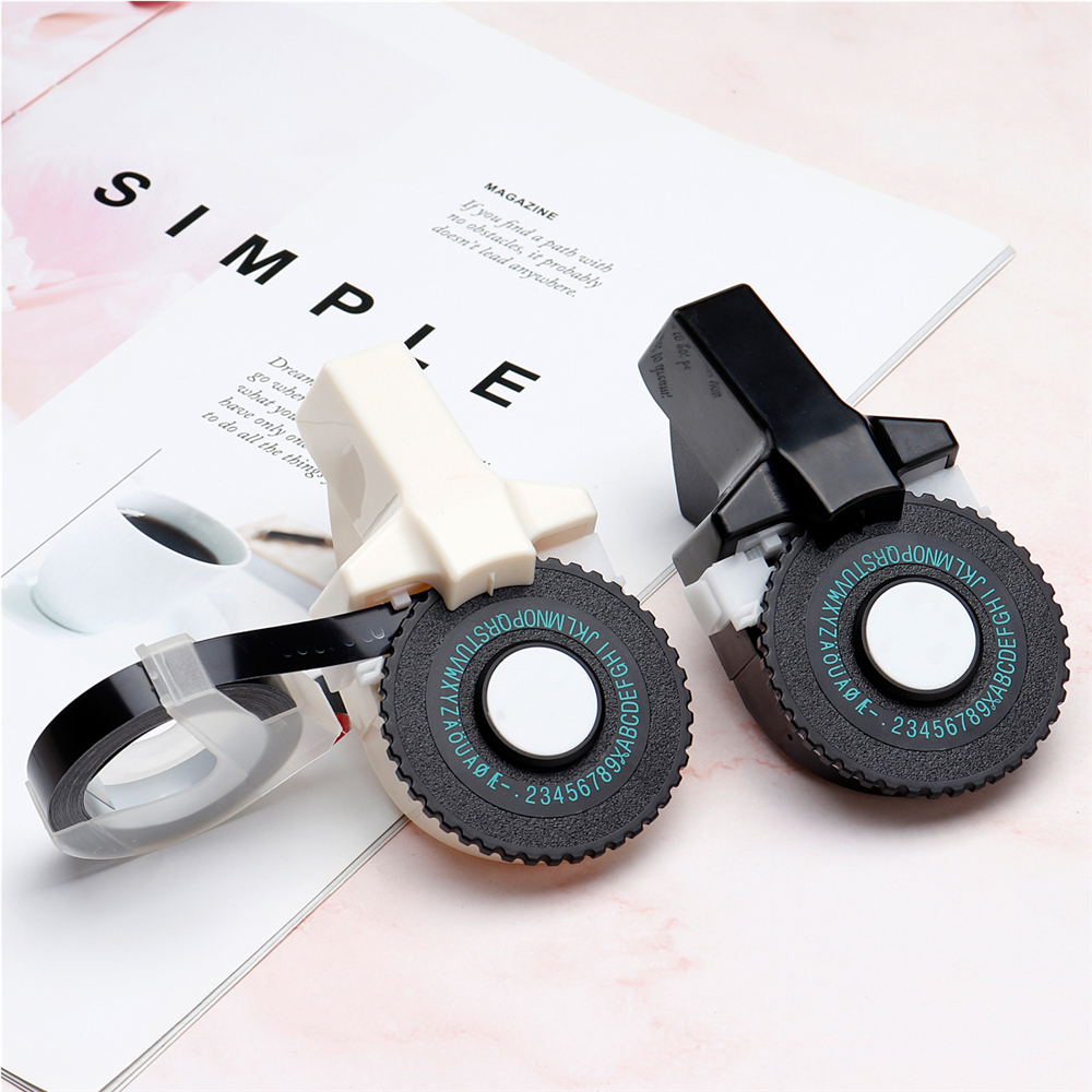 DIY Label Printer 9mm Label Tapes Sticker Portable Hand Label Machine Typerwriter Letter label Maker with Tapes