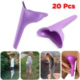 IPRee 20 Pcs Portable Outdoor Female Urinal Toilet Soft Silicone Travel Stand Up Pee Device Funnel